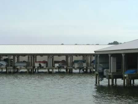 Boat docks on Lake Palestine