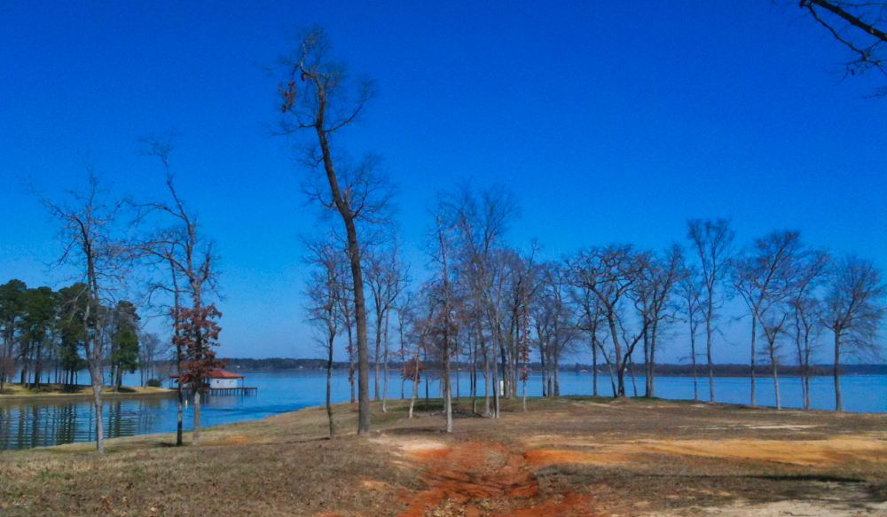 Lakefront property on the shores of Lake Palestine in East Texas